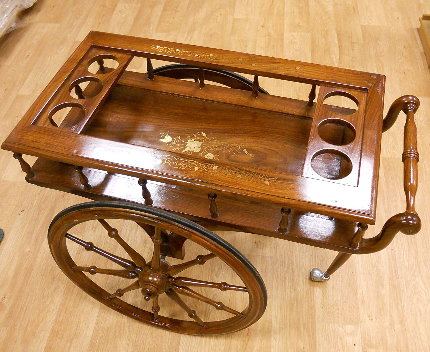 Other Hand Made Solid Rose Wood Bar/Drinks Trolley