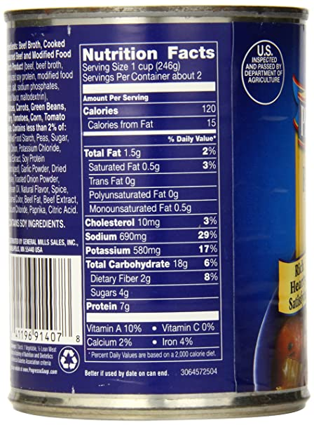 Amazon.com : Progresso Rich & Hearty Soup, Slow Cooked Beef and Vegetable, 19-Ounce Cans (Pack of 12) : Progreso Beef : Grocery & Gourmet Food