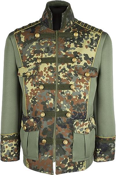 M&G Atelier Herren militär Army Camouflage Jacke Hochwertige Kostüm Karneval Fasching 46 66