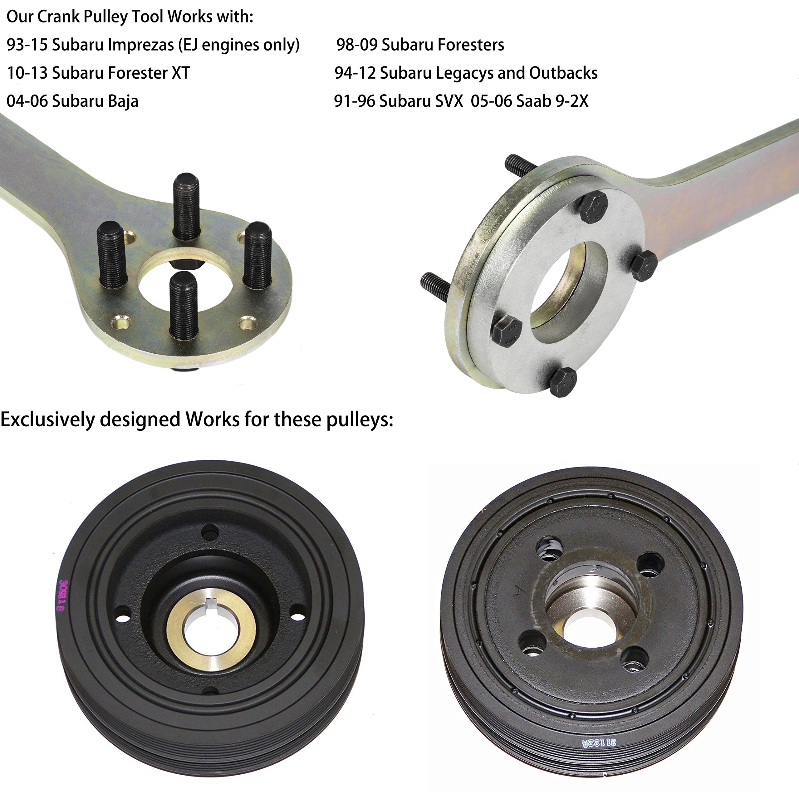 EnRand New Version Crank Pulley Tool for Subaru by EnRand (Image #2)