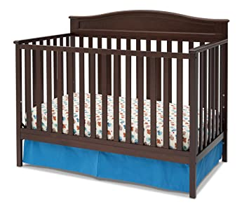 Delta Children Larkin 4 In 1 Convertible Crib, Black Cherry