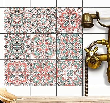 creatisto PVC Autocollant Carreau de Ciment | Mosaique Salle de Bain ...