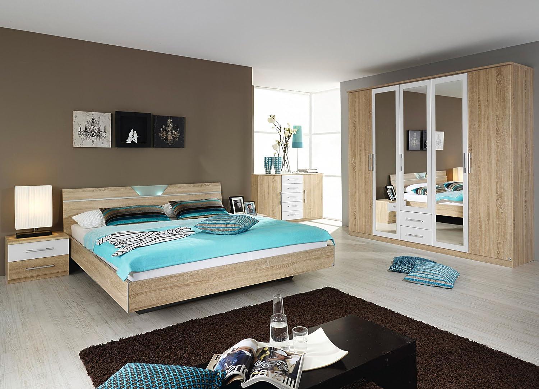rauch Schlafzimmer Valence,4-teilig Eiche Sonoma/alpinweiß Eiche ...