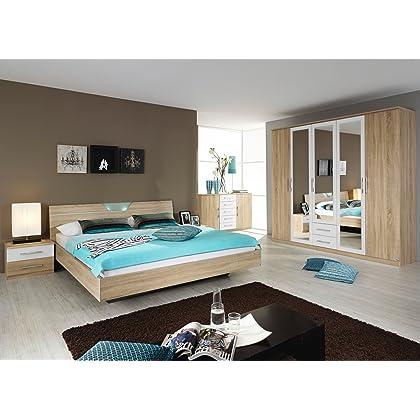 rauch Schlafzimmer Valence,4-teilig Eiche Sonoma/alpinweiß ...