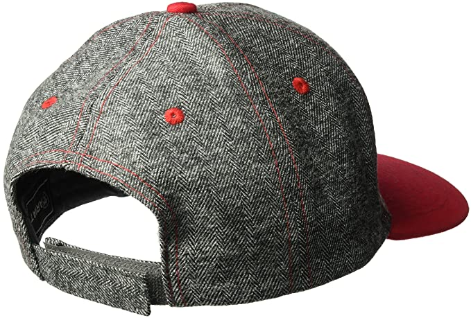 ARIAT Mens Gray Red Bill Fabric Cap, One Size at Amazon Mens Clothing store: