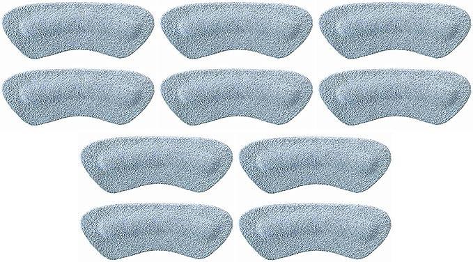 Gray Pedag Stop Padded Leather Heel Grips Ten Pair