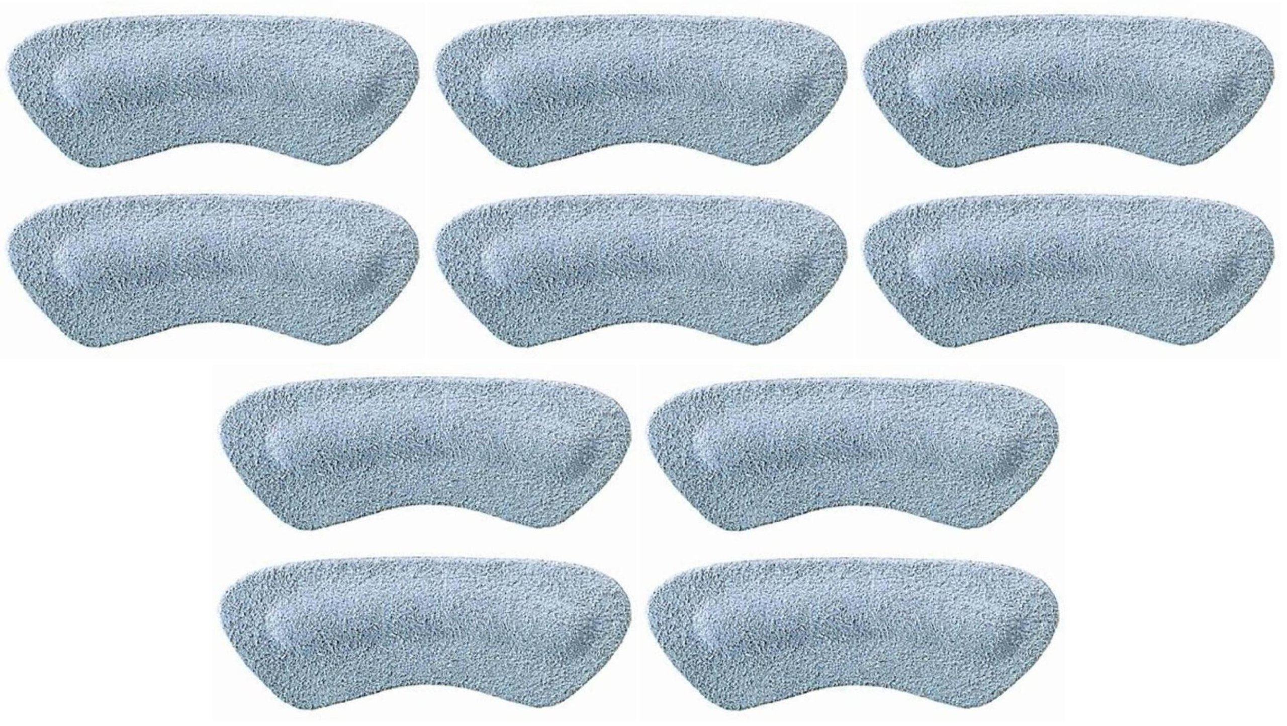 Pedag Stop Padded Leather Heel Grips, Gray, Five Pair