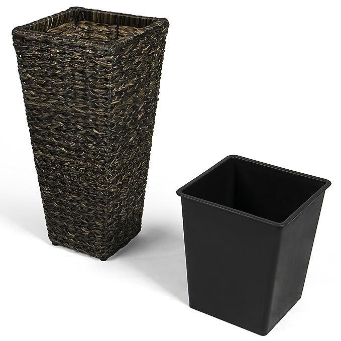 Vanage Kunststoff Pflanzkübel in schwarz - Blumenkübel für drinnen ...