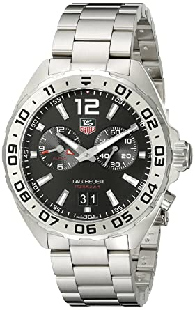 7c691cfb551f Image Unavailable. Image not available for. Color  TAG Heuer Men s WAZ111A.BA0875  Formula 1 Stainless Steel Watch