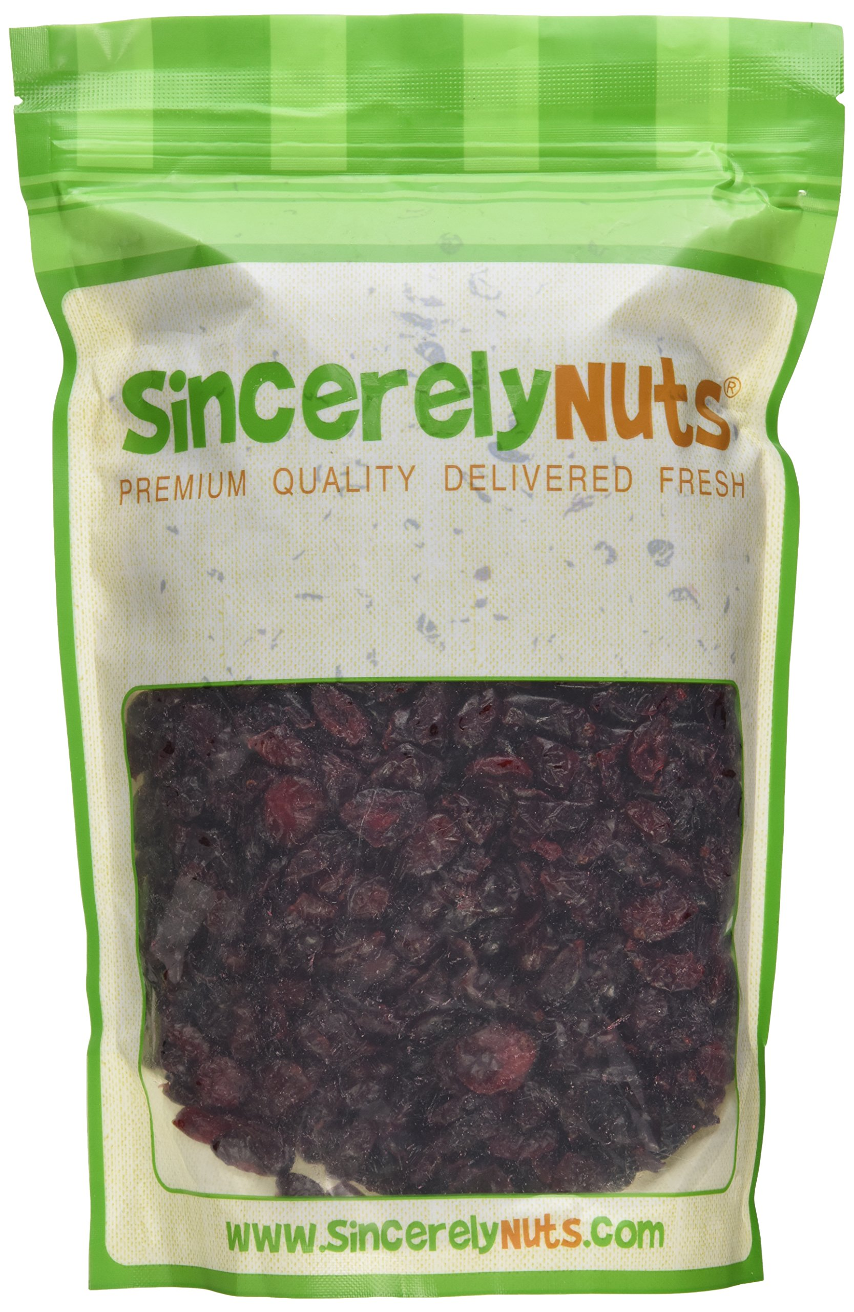 Sincerely Nuts Dried Sweetened Cranberries (2 LB) Vegan, Kosher & Gluten-Free Food-Dried Fruit Snack-Healthy Addition to Your Favorite Meals-Nutrient Rich Alternative Treat for the Whole Family by Sincerely Nuts (Image #2)