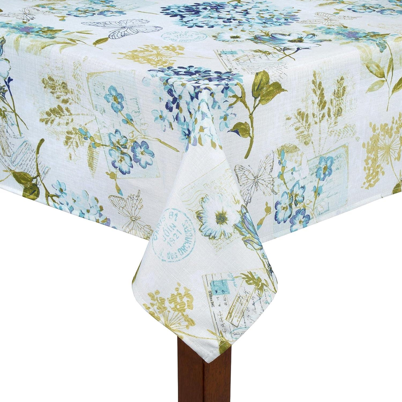Collette Piper Hydrangea Garden Print Tablecloth 52 x 70 Oblong Nantucket Distributing