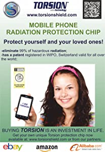 Proven 99% Anti Radiation Protector Shield for Smartphone/iPhone/All Mobile Phones,EMF Protection Cell Phone,Patented in Switzerland,EMR Neutralizer Sticker Chip,Transforms from Negative to Positive