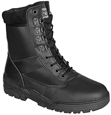 a6cadd50561 Savage Island Combat Boots Black Full Leather