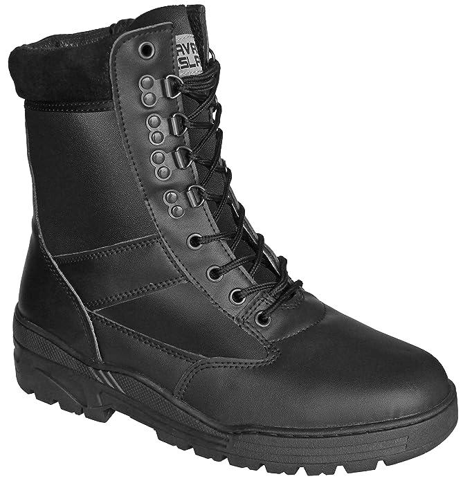25 opinioni per Stivali neri in vera pelle da combattimento militare tattici per cadetti,