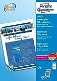 Avery España 1298 - Pack de 200 folios de papel fotográfico para impresoras láser, 210 x 297 mm, color blanco