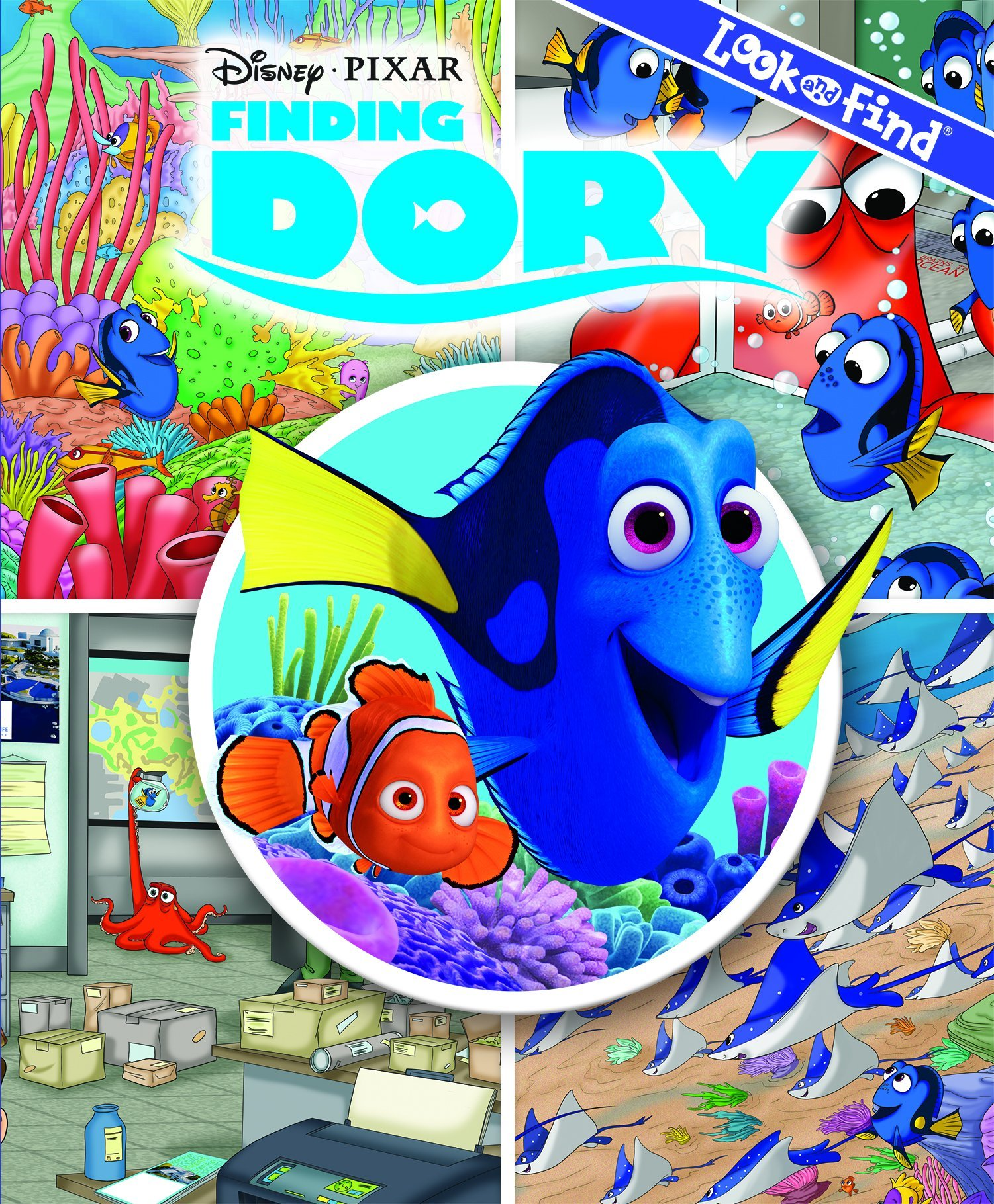 Disney Pixar Finding Dory Look And Find Book Hardcover PiKids Media Phoenix International