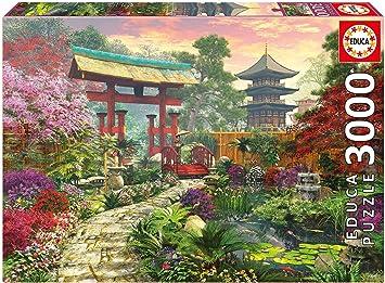 Puzzles Educa - Jardín japonés, Puzzle de 3000 Piezas (16019): Amazon.es: Juguetes y juegos