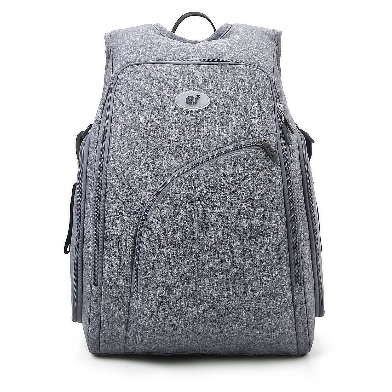 0253d74e2f7e ECOSUSI Diaper Bag Backpack Fully-opened Baby Diaper Bags Mom Bag with  Changing Pad