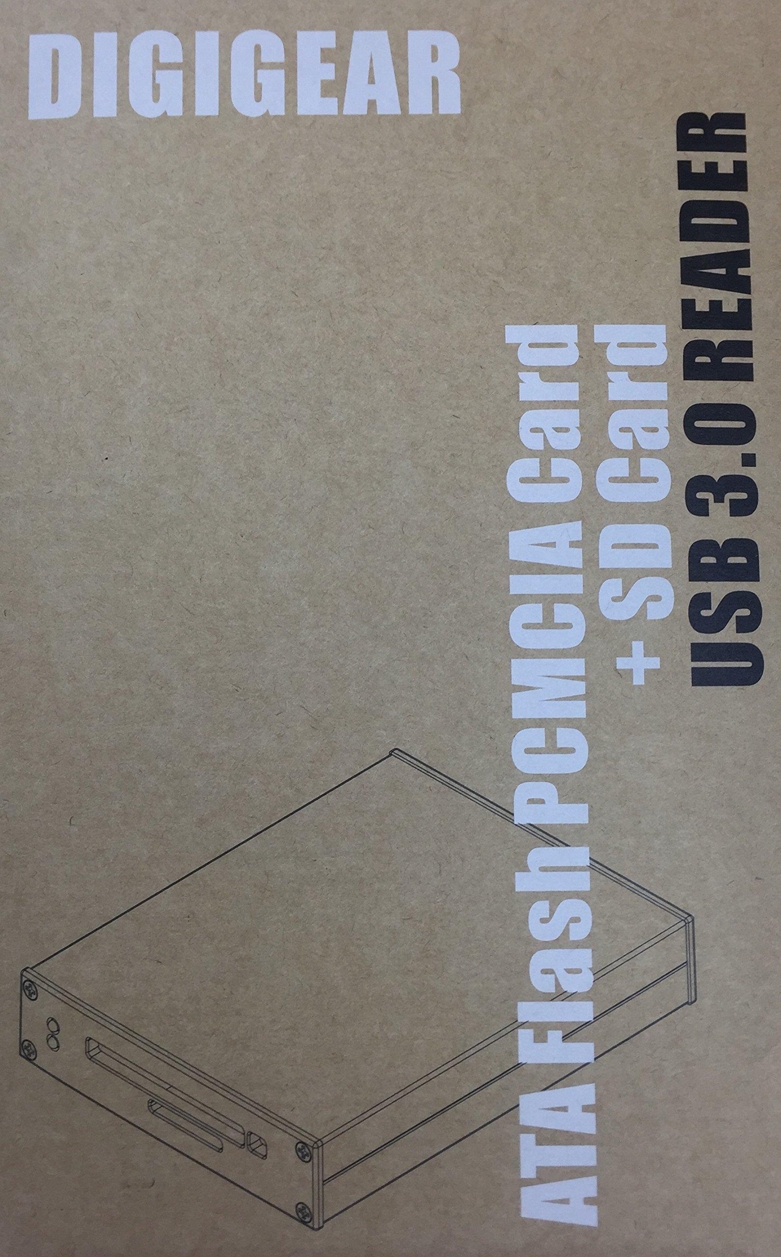 DIGIGEAR ATA Flash PCMCIA PC Card & SD/SDHC/SDXC USB 3.0 Industrial Grade Reader by Digigear (Image #4)