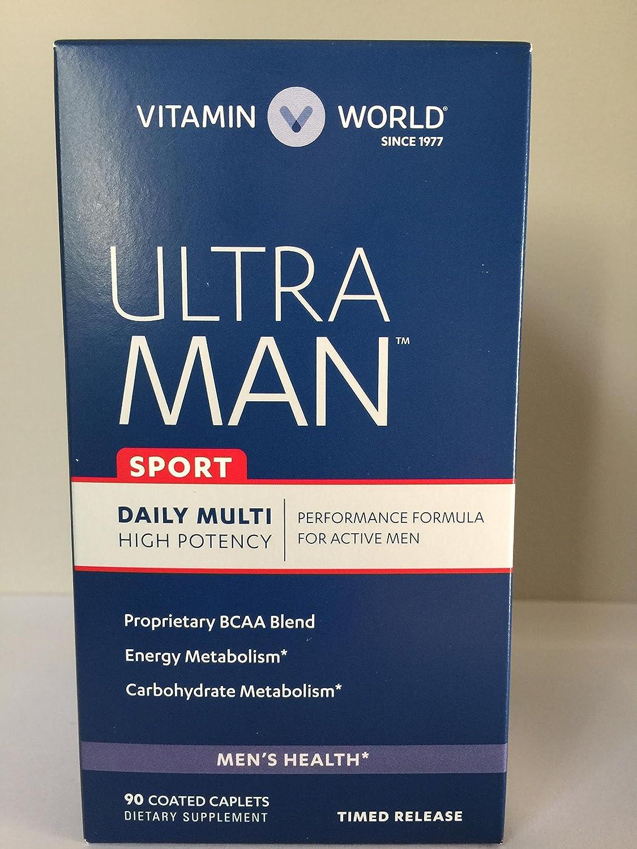 Amazon.com : Vitamin World Ultra Man Sport Daily Multi Vitamin, 90 Coated Caplets : Beauty