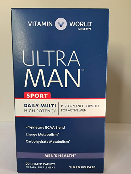 Amazon.com : Vitamin World Ultra Man Sport Daily Multi Vitamin, 90 Coated Caplets : Beauty