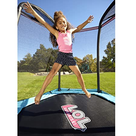 L.O.L. Surprise 7 Enclosed Trampoline with Safety Net