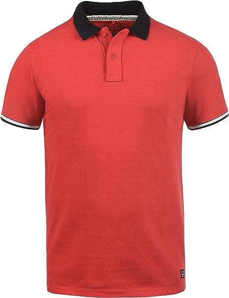 BLEND Prato Camiseta Polo De Manga Corta para Hombre con Cuello De Polo De 100% Algodón: Amazon.es: Ropa y accesorios
