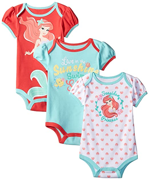 d4ab662ca15 Amazon.com  Disney Baby-Girls The Little Mermaid Ariel Bodysuit ...