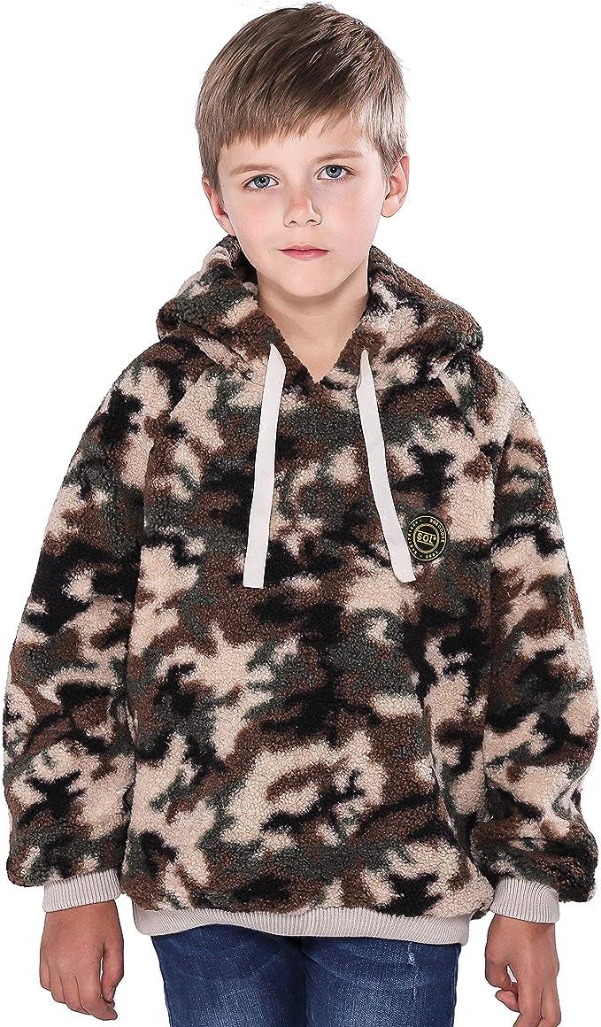 Amazon.com: maoo garden Boys Fleece Hoodies Kids Thick Sherpa Sweatshirt  Warm Winter Camo Pullover: Clothing