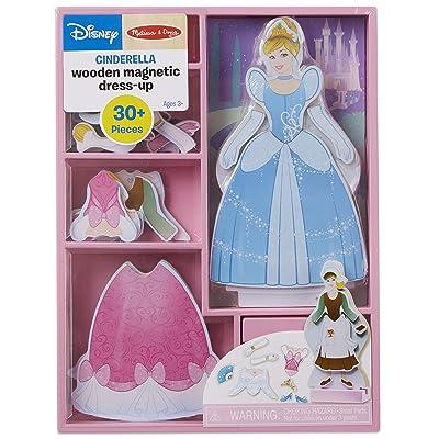 Melissa & Doug Disney Cinderella Magnetic Dress-Up Wooden Doll Pretend Play Set (30+ pcs): Melissa & Doug: Toys & Games