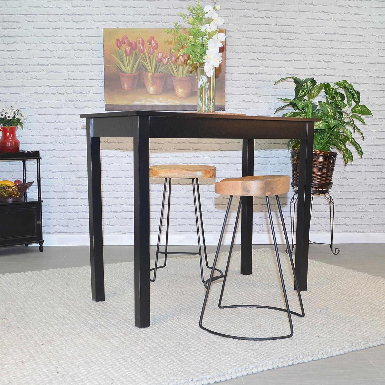 Carolina Chair /& Table Brera 25-Inch Wood Seat Tractor Stool Natural//Black