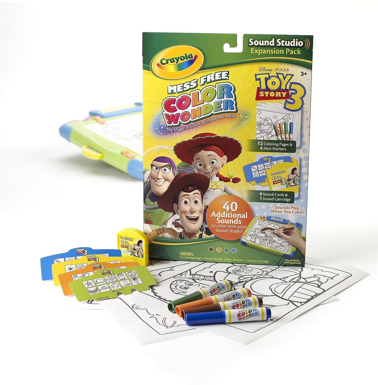 amazoncom crayola color wonder sound studio disney toy story refills toys games