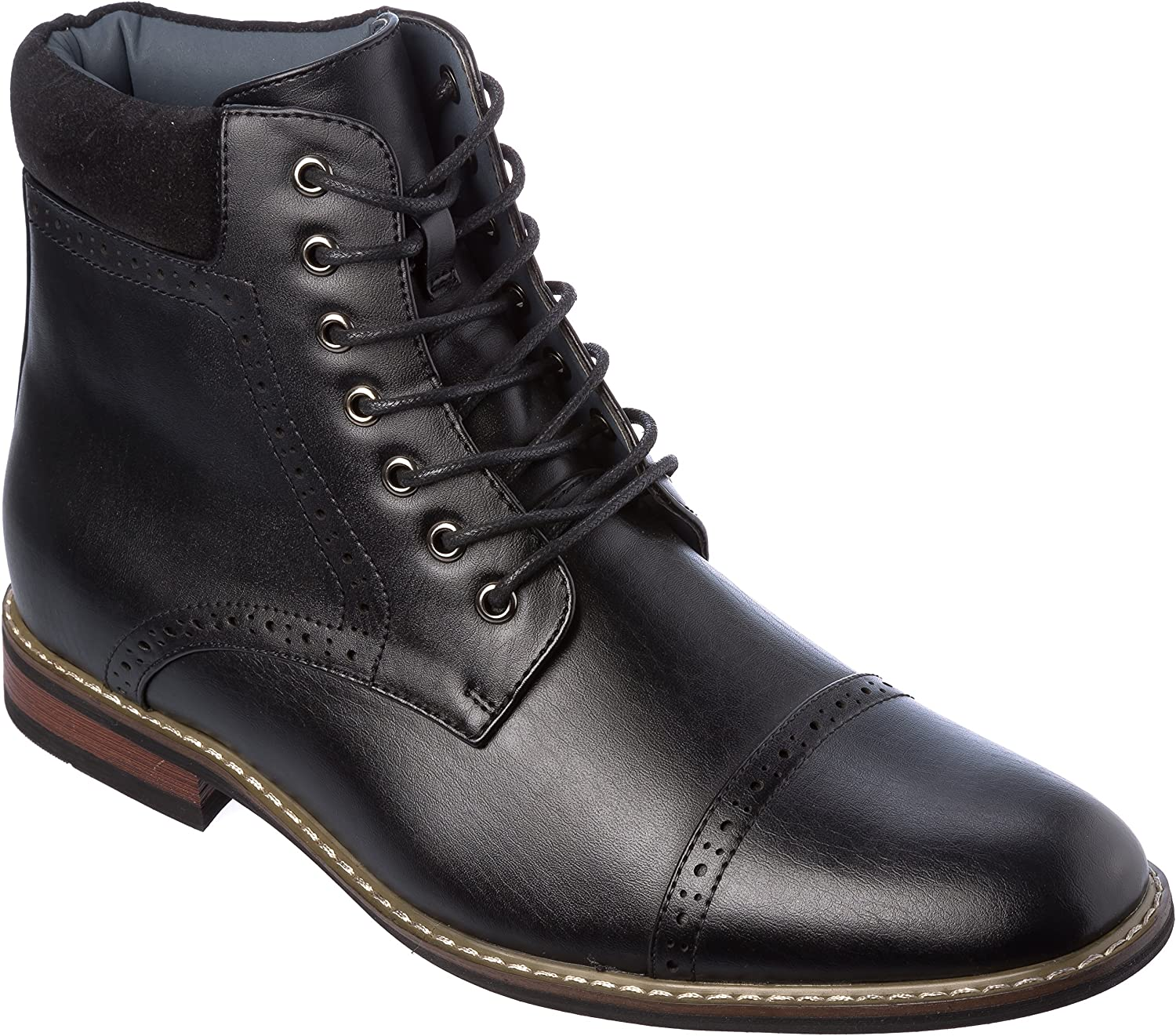 Mens Lace-Up Oxford Boots Dress Shoes ottawa04Black