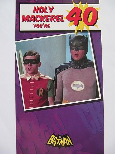 Fantastic colourful batman robin holy mackerel youre 40 40th fantastic colourful batman robin holy mackerel youre 40 40th birthday greeting card bookmarktalkfo Gallery