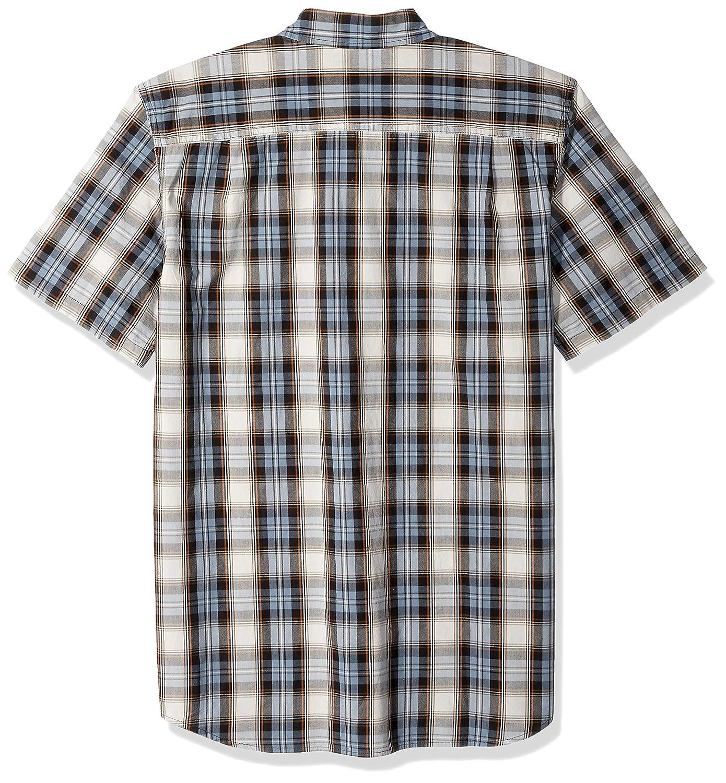 Carhartt Mens Big and Tall Big /& Tall Essential Plaid Button Down Short Sleeve Shirt