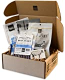 People's Choice Beef Jerky - Jerky Box - Simple & Savory - Meat Snack Sampler Gift Basket for Guys - 4 Items