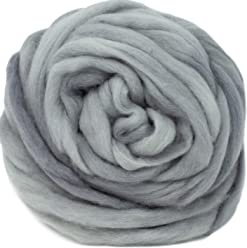 Artisanal Craft Fiber ideal for Felting Plum Wool Roving Hand Dyed Wall Hangings and Embellishments 1 Ounce Super Soft BFL Combed Top Pre-Drafted for Easy Hand Spinning Weaving
