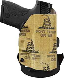 product image for We The People Holsters - Gadsden Flag - Outside Waistband Concealed Carry - OWB Kydex Holster - Adjustable Ride/Cant/Retention