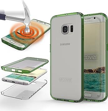 Urcover Samsung Galaxy S7 Edge Funda [Nueva Versión ] Mejorada Funda Carcasa Samsung Galaxy S7 Edge [Completa 360 Grados ] TPU Verde Crystal Clear Case Inalámbrica Qi Móvil Smartphone: Amazon.es: Electrónica