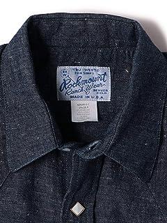 Linen Western Shirt 111-11-4117: Navy