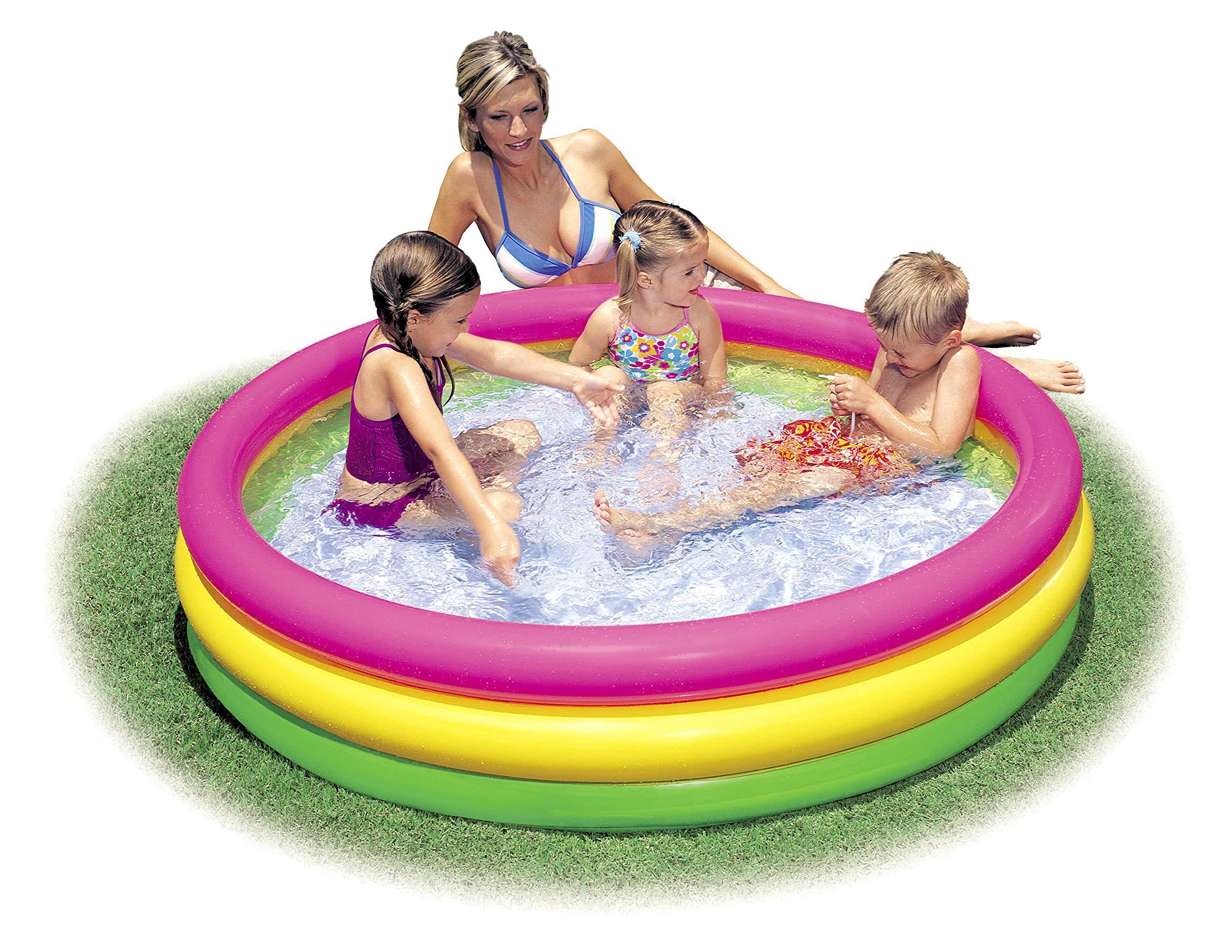 Intex Kiddie Pool - Kid's Summer Sunset Glow Design - 58'' x 13'' by Intex
