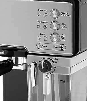 Oster Prima Latte - Cafetera espreso con tratamiento de leche, 15 bares de potencia (Plata): Amazon.es: Hogar