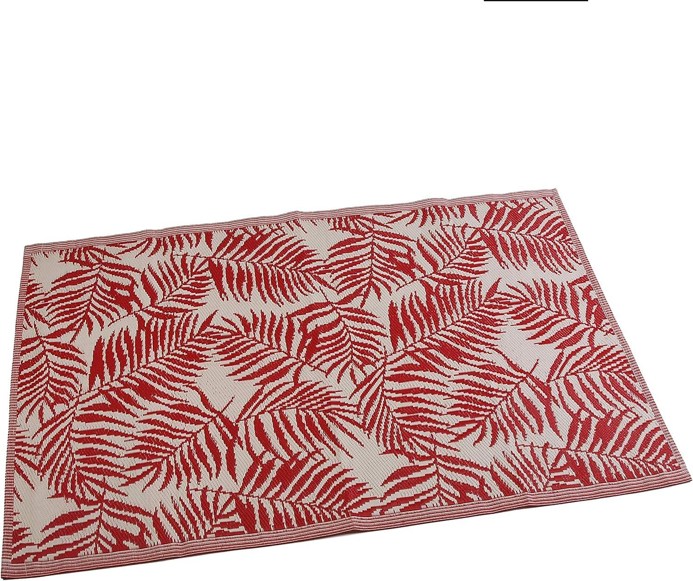 Rojo Versa Alfombra Roja /Única Polipropileno Ni/ños Cocina