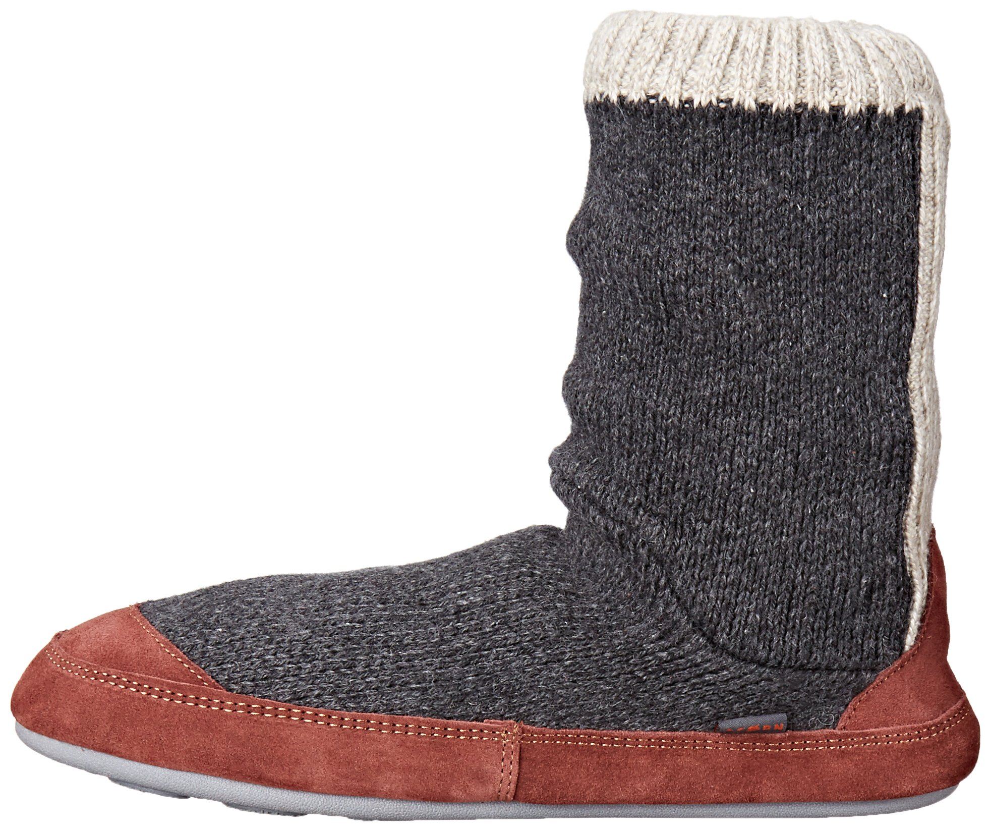 Acorn Men's Slouch Boot Slipper, Charcoal Ragg Wool, Medium/9-10 B US by Acorn (Image #5)