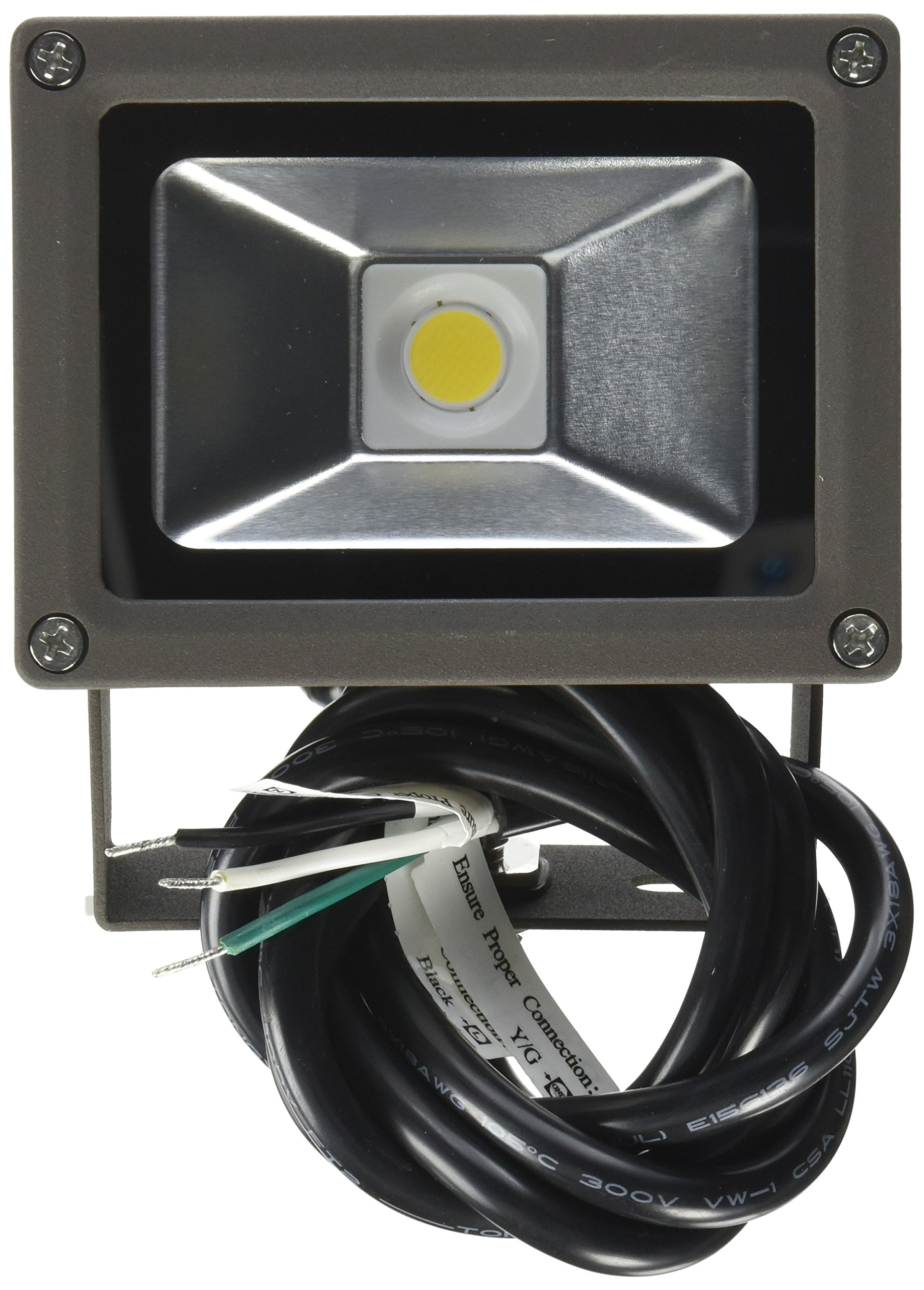 MaxLite FLS15U50B Led Small Flood - 14W, 120-277V, 5000K, Bronze, Nema 6H x 6V Wide Dist.,