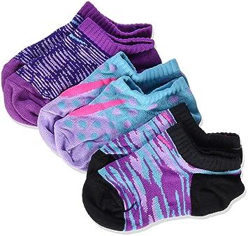 Nike 3P Girls Graphic LTW CTN NO S Pack 3 Pares de Calcetines, Niña, Rojo, XS: Amazon.es: Deportes y aire libre