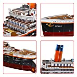 "WISESTAR 32.2"" L Large Titanic 3D Puzzles Model for Adults and Kids, 116PCS Sinking Cruise Boat Ship Play Model Game Toy Craft Kits, Educational Toy Birthday Gift for Boys Girls"