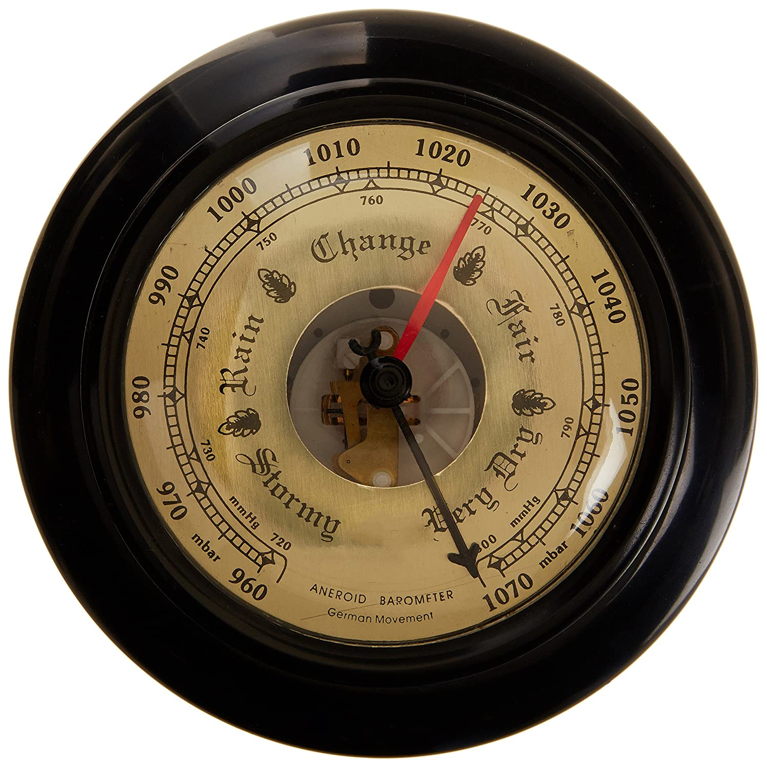 United Scientific ANBR01 Aneroid Barometer, 7.5' Overall Diameter 7.5 Overall Diameter Thomas Scientific