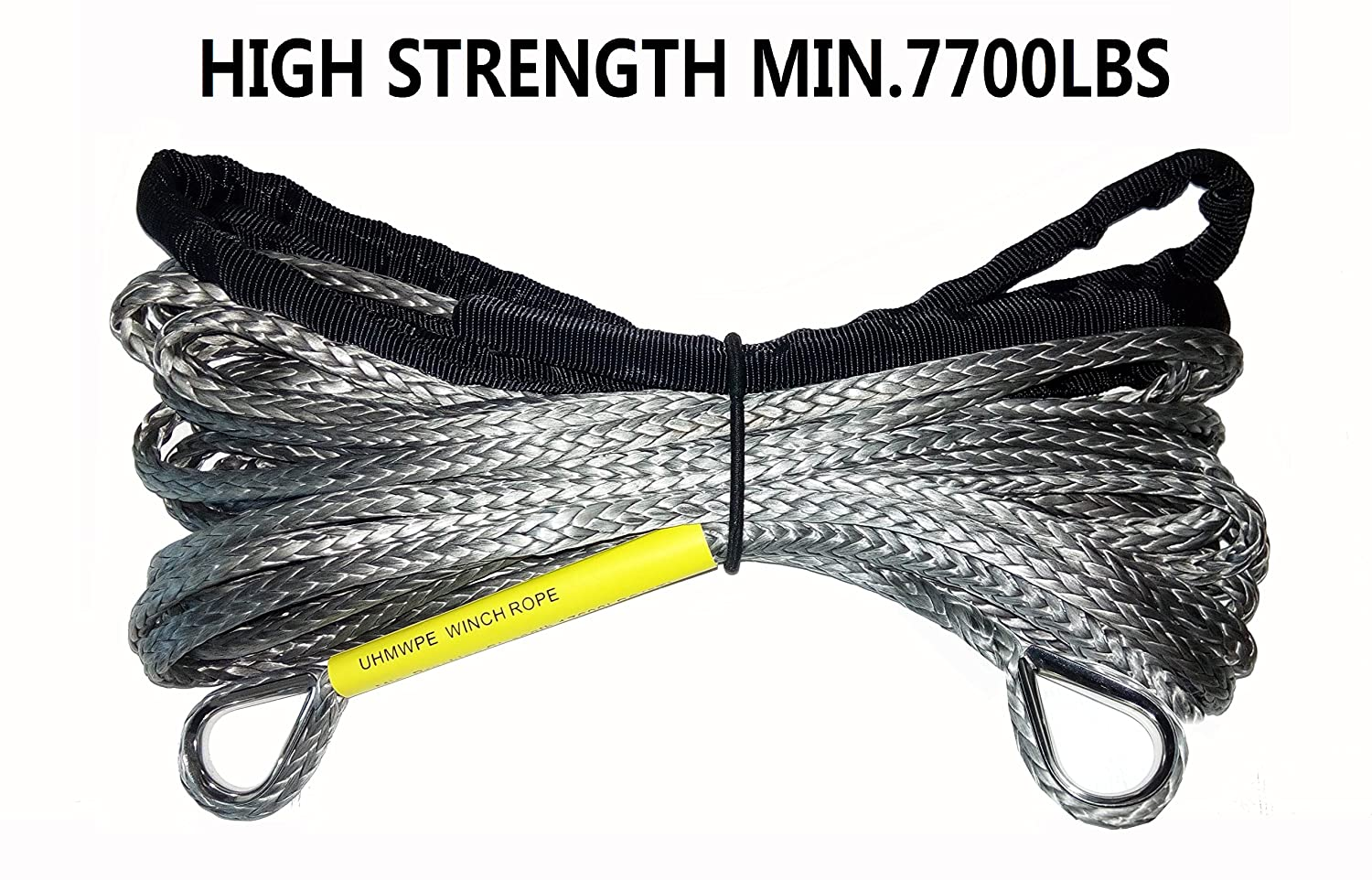 "Synthetic winch rope extension customized Length 1/4"" high strength 7700LB"