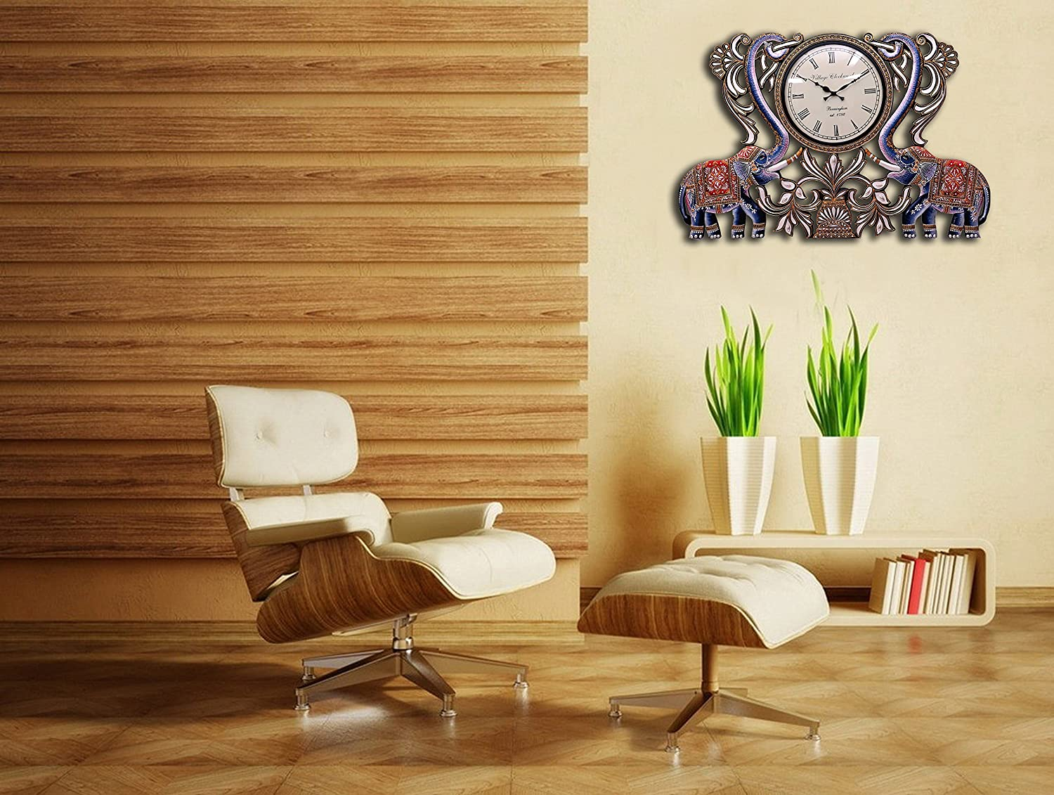 living room wall clocks. Buy Collectible India 3 Feet Wooden Wall Clock Handmade Home Decorative Vintage Mounted Hanging Showpiece Gifts Online At Low Prices In Living Room Clocks